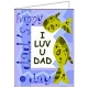 Printable Father's Day Card with fish theme