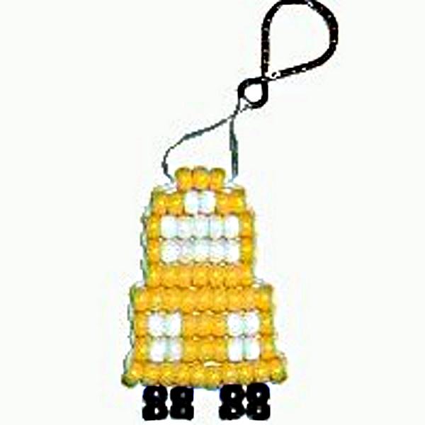 School Bus Beadie Key Chain Craft