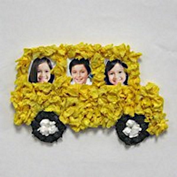Tissue Paper School Bus Craft