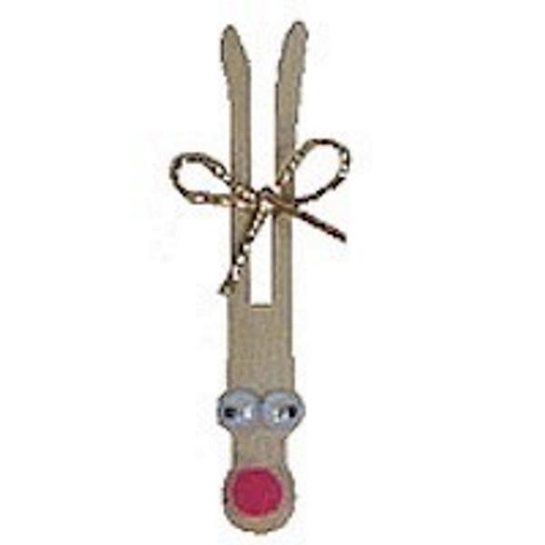 Clothespin Reindeer Pin