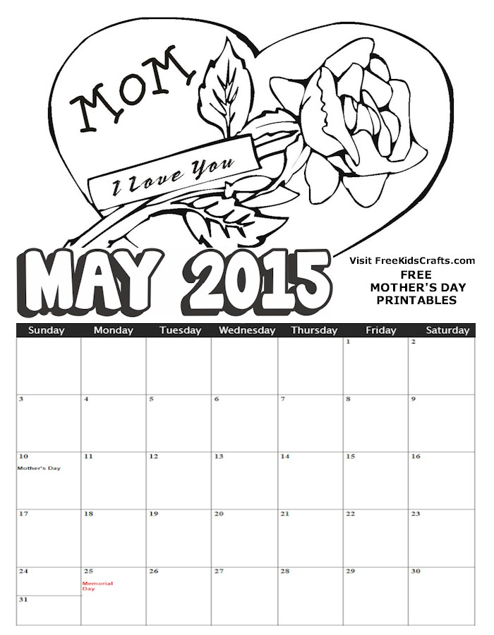 Image of 2015 May  Calendar