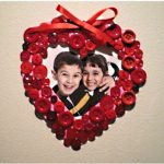 Valentine Button Frame