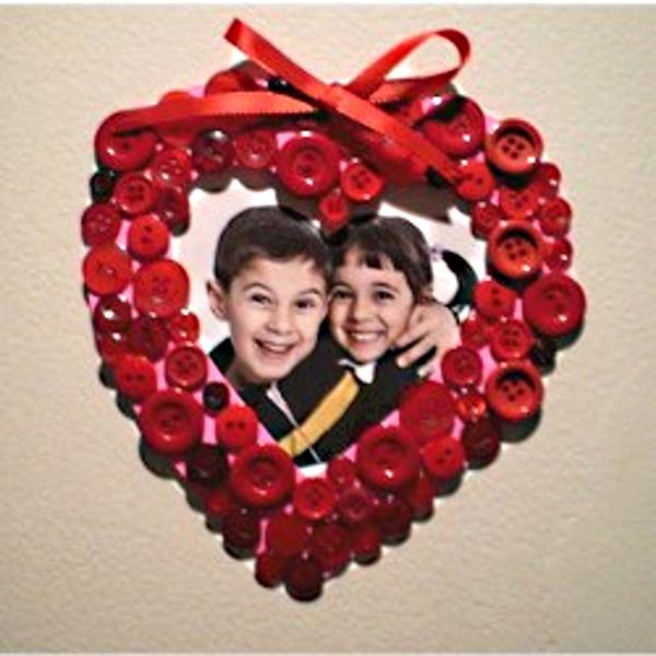 Valentine Button Frame