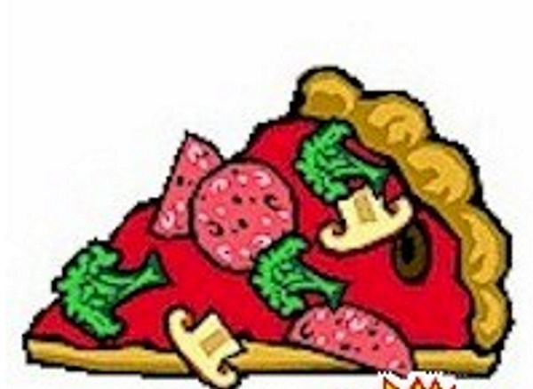 Cut and Paste Pizza craft for young children