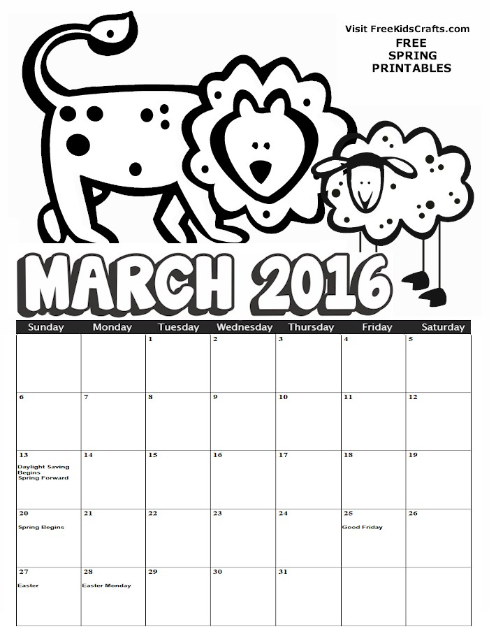 Image of 2016 January Coloring Calendar