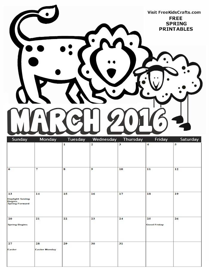 Kids 2016 Calendar | Calendar Template 2016