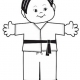Martial Arts Paper Doll for young children