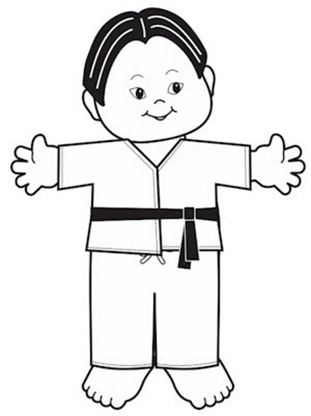 Playtime Martial Arts Paper Doll
