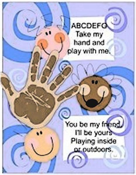 Printable Friendship Handprint Poem Craft