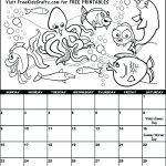 2017 July Coloring Calendar