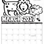 2017 March Coloring Calendar