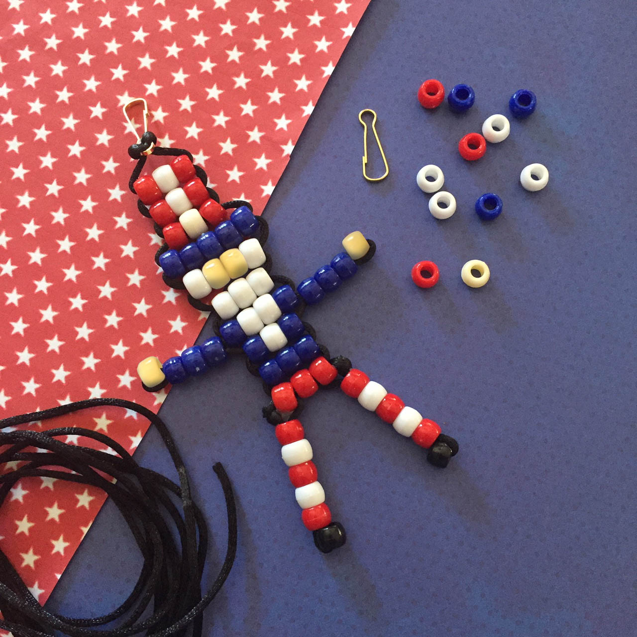 Pony bead Uncle Sam with pattern