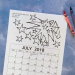 Printable July Coloring Calendar