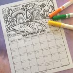 2020 Printable September Coloring Calendar