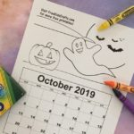 Printable October Coloring Calendar