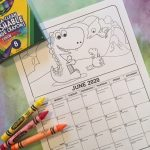 Printable June Coloring Calendar