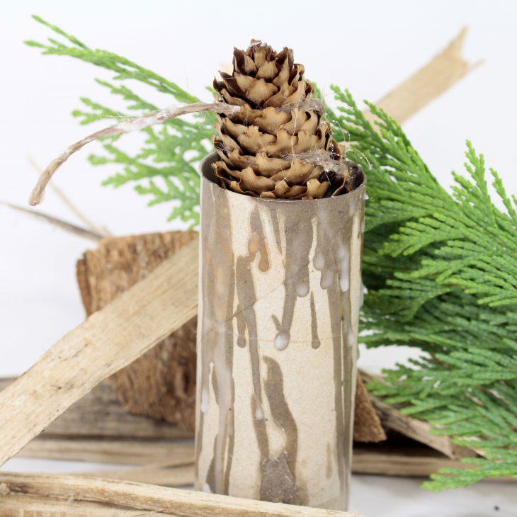 DIY Pine Cone Fire Starter