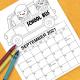 Free Printable Coloring Calendar for Children
