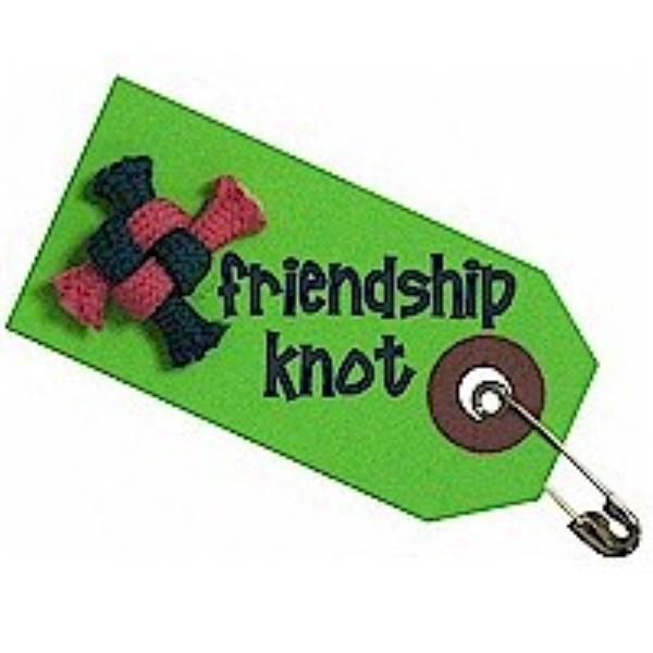 Friendship knot tag