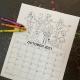 Printable Coloring Calendar for kids