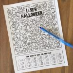 Halloween I Spy Activity Worksheet