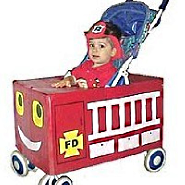 Stroller Fire Truck Costume