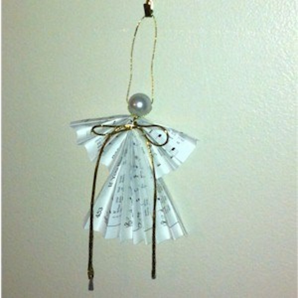 Folded Christmas Angel Craft