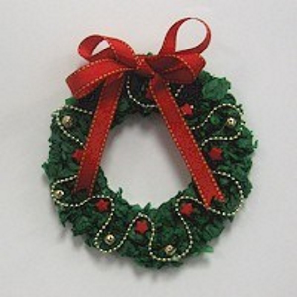 Easy Tissue Paper Wreath to decorate your packages