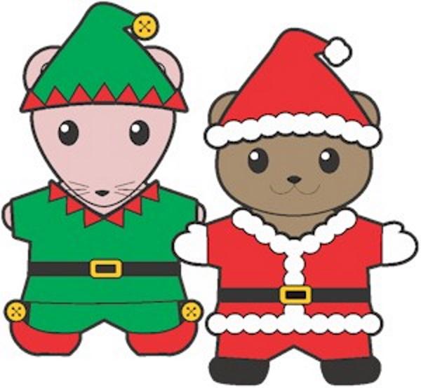 Printable Christmas Buddy Paper Dolls