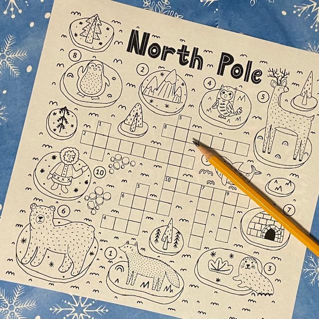 North Pole Crossword Puzzle