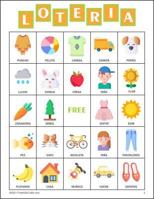 Free Loteria Bingo Cards