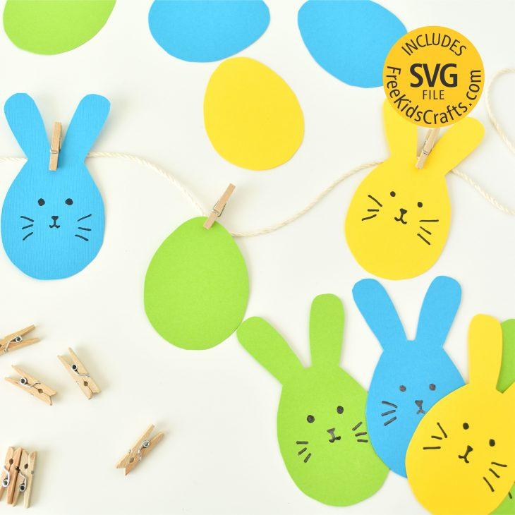 Easy Printable Easter Garland