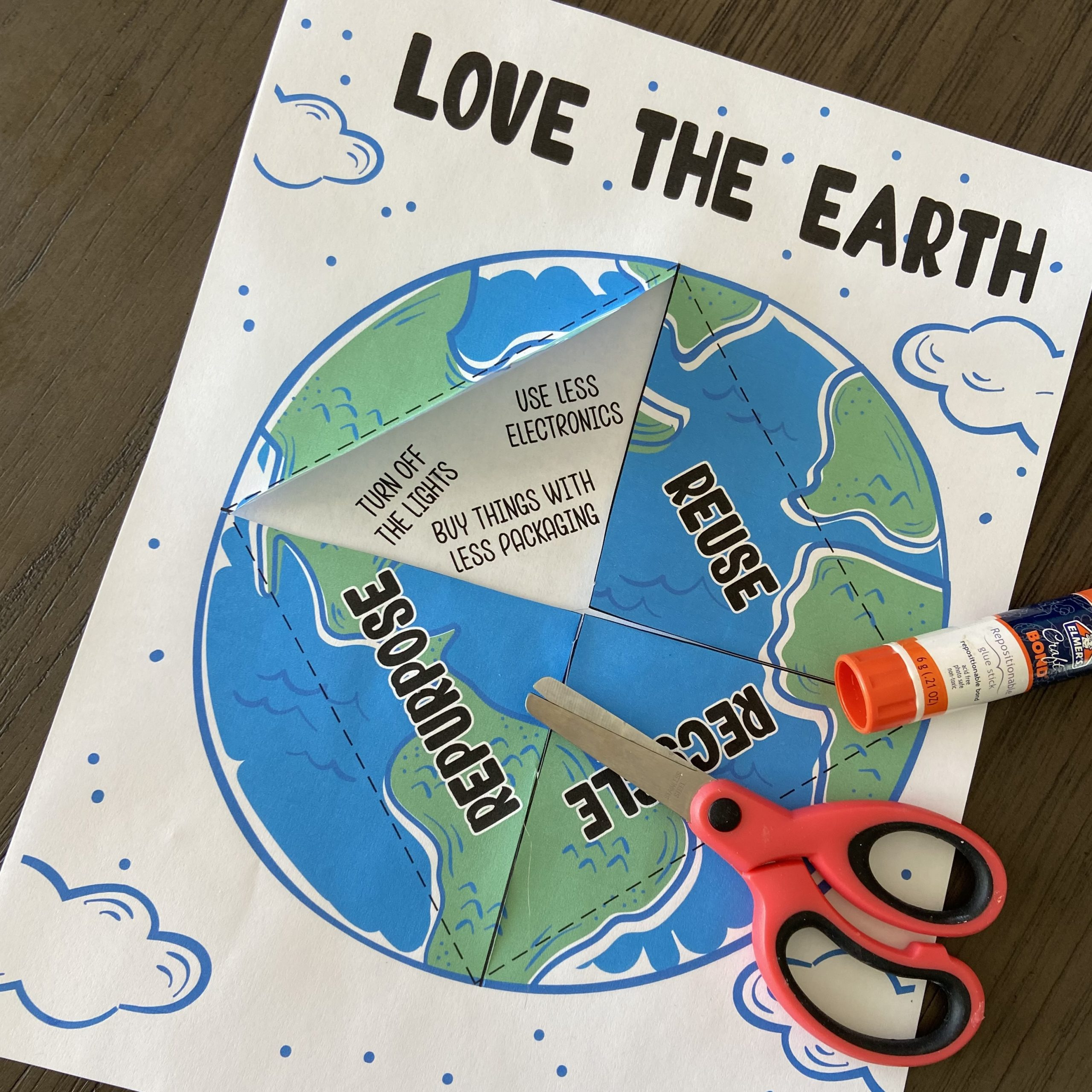 Printable Earth Day craft for children