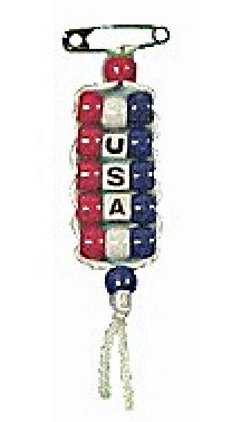 Pony Bead USA Pride Pin Craft