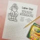 printable Labor Day word search