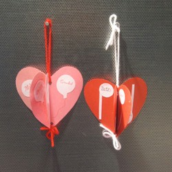 3-D Valentine Hearts