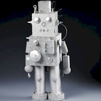 Image of Recycled Tin Can Robot