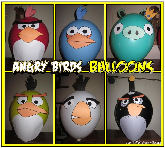 Image of Angry Birds Party Balloon Decals