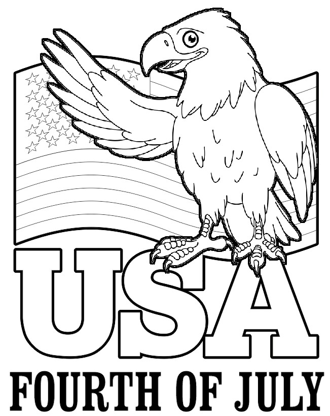 Image of July 4th Coloring Page