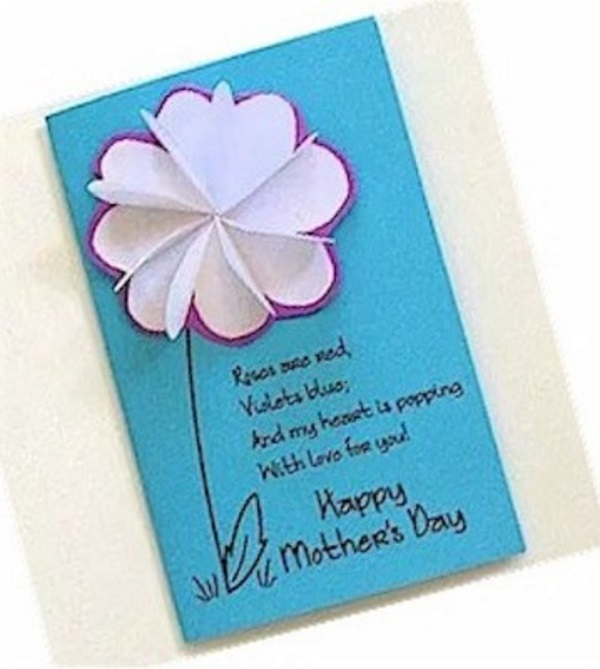 DIY Flower card for Mother's Day