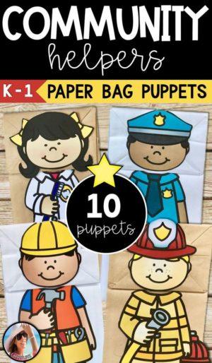 Community Paper Bag Puppets for Preschoolers