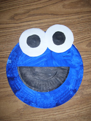 Image of Paper Plate Cookie Monster