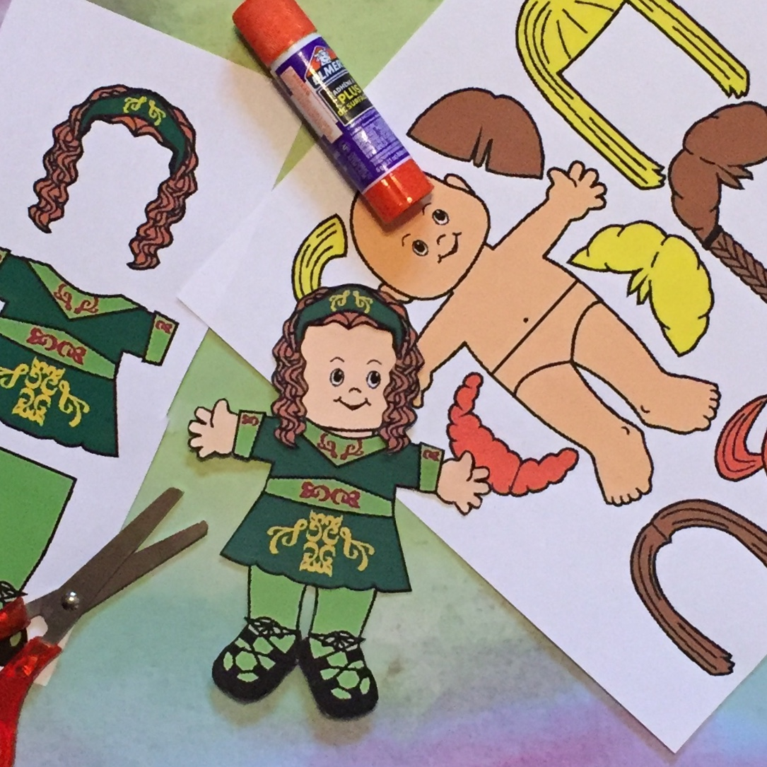 Irish Step Dancing Paper Doll