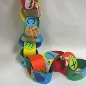 Easy ABC Paper Chain for Preschoolers