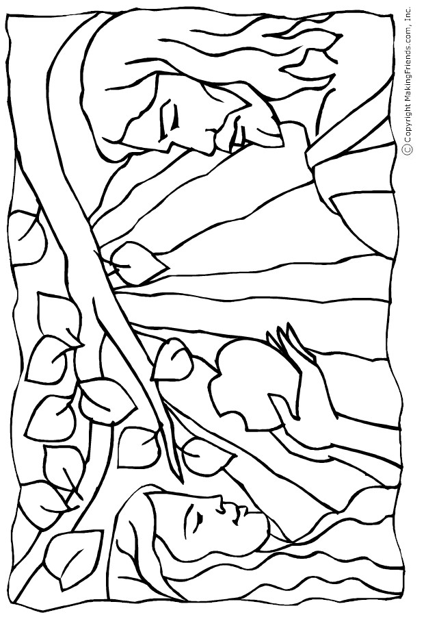 adam-and-eve-coloring-page