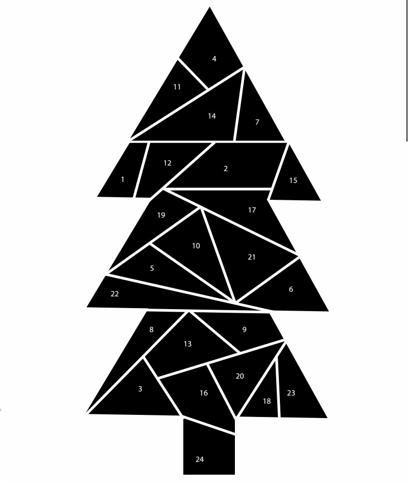 Image of Advent Christmas Tree