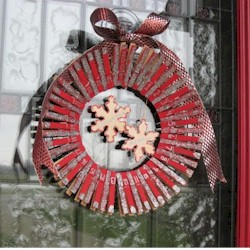Advent Clothespin Wreath