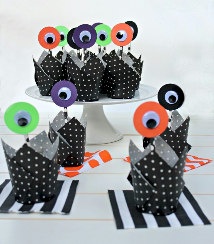 Alien Cupcake Toppers