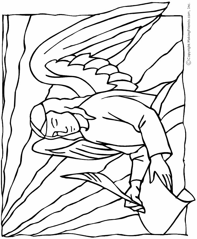 angel-colorng-page