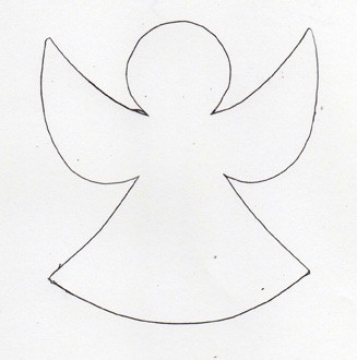 Angel garland for Angel decoration template